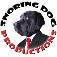 Snoring Dog Postcard Logo 450px